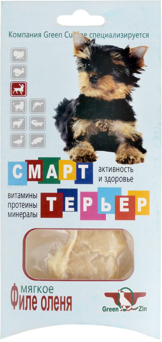 Лакомство для собак GreenQZin Смарттерьер, мягкое филе оленя, 25 гDrST25pЛакомство GreenQZin Смарттерьер - это натуральный мясной деликатес, предназначенный в употребление специально для собак, особенно для привередливых и ценящих свой выбор особей. Лакомство GreenQZin Смарттерьер, приготовленное по особой технологии из цельного куска мяса оленя, не содержит консервантов, красителей и ГМО. В отличие от сухих кормов не вызывает запоры и мочекаменный закупор, легко переваривается в желудке собак без негативных последствий. Лакомство GreenQZin Смарттерьер - это идеальное решение для любой хозяйки, которая заботится о здоровье своего питомца. Товар сертифицирован.