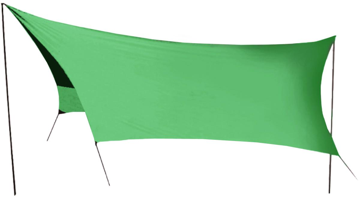 Тент Sol, цвет: зеленый, 440 х 440 смSLT-034.04Удобный тент со стойками Tramp предназначен для защиты от дождя и солнца. Изделие очень просто устанавливается. Идеально подходит для отдыха на открытом воздухе в летнее время, спасает от легкой непогоды и солнца. Тент выполнен из прочного полиэстера. Стойки изготовлены из стали толщиной 16 мм. В комплект входит чехол для переноски и хранения. Размер тента: 440 х 440 см.