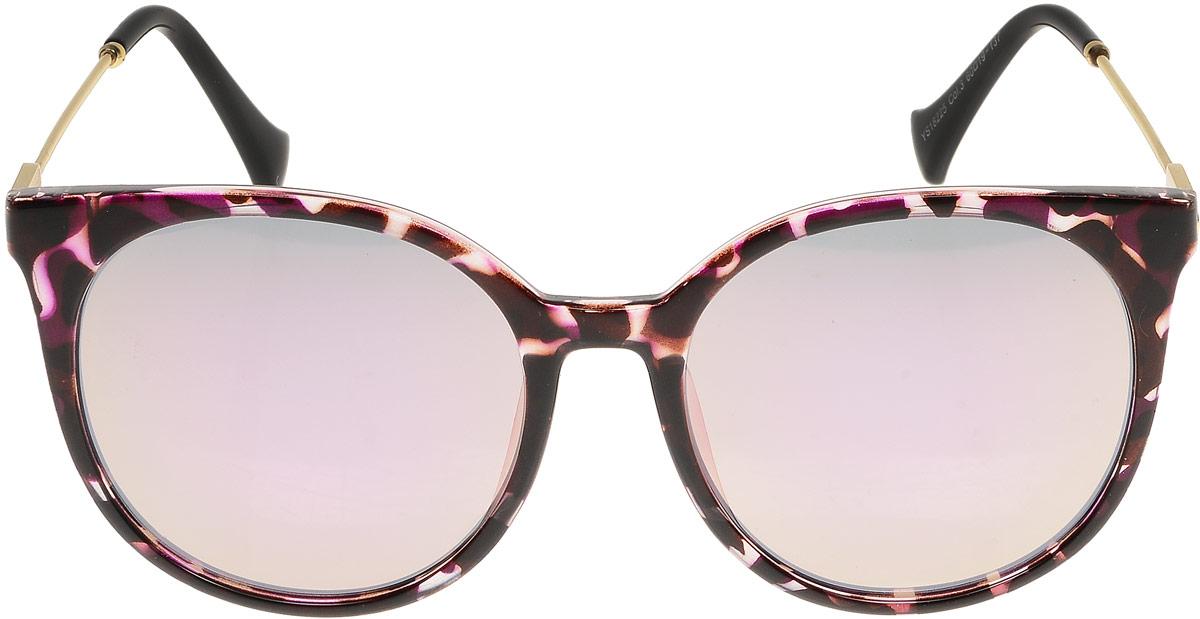 Очки солнцезащитные женские Модные истории, цвет: бордовый. 7/0023/1647/0023/164Стильные солнцезащитные очки сделают приятной прогулку в жаркий солнечный полдень. Высокоэффективный встроенный УФ фильтр обеспечивает совершенную защиту от вредных ультрафиолетовых лучей .