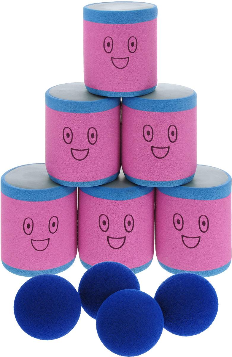 Safsof Игровой набор Городки цвет розовый голубой синий
