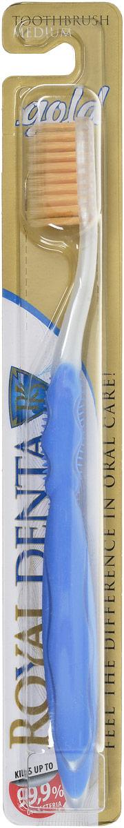 Royal Denta Зубная щетка Gold с наночастицами золота цвет: голубой5555_голубойRoyal Denta Зубная щетка Gold с наночастицами золота цвет: голубой