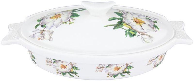 Блюдо для запекания Elan Gallery Белый шиповник, с крышкой, 600 мл180906Блюдо для запекания и сервировки украсит Ваш праздничный стол. Размер этого блюда подходит и для подачи горячего, и для приготовления и хранения слоеных салатов. Соберите всю коллекцию предметов сервировки Белый шиповник и Ваши гости будут в восторге! Изделие имеет подарочную упаковку, поэтому станет желанным подарком для Ваших близких! Объем 600 мл.