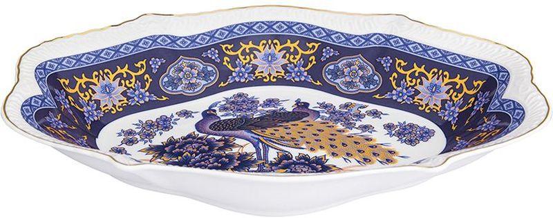 Блюдо Elan Gallery Павлин синий, овальное, 570 мл180978Большое овальное блюдо необходимая вещь при застолье. Вы можете использовать его для закусок, сырной нарезки, колбасных изделий и, конечно, горячих блюд. Изделие имеет подарочную упаковку. Объем 570 мл.