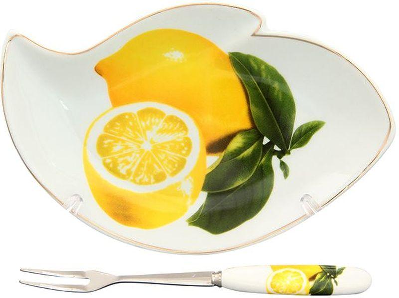 Тарелка под лимон Elan Gallery Лимоны, с вилкой, 17 х 11 х 2 см503Изящная посуда, изготовленная из высококачественной керамики с соным лимоном прекрасно дополнит интерьер Вашей кухни. А также станет отличным подарком Вашим друзьям и близким.