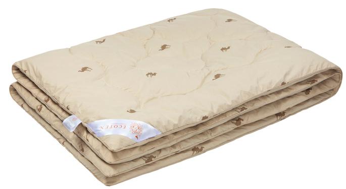 Одеяло Ecotex Караван, наполнитель: верблюжья шерсть, цвет: светло-бежевый, 172 х 205 смОВТ2- сухое тепло: комфортный температурный режим в любое время года; - целебные свойства; - высокое содержание ланолина, благоприятно воздействующего на кожу, мышцы и суставы; - антистресс: успокаивает, снимает усталость; - экологичность и антистатичность.