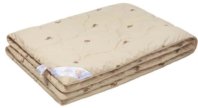 Одеяло Ecotex Караван, наполнитель: верблюжья шерсть, цвет: светло-бежевый, 200 х 220 смОВТЕ- сухое тепло: комфортный температурный режим в любое время года; - целебные свойства; - высокое содержание ланолина, благоприятно воздействующего на кожу, мышцы и суставы; - антистресс: успокаивает, снимает усталость; - экологичность и антистатичность.