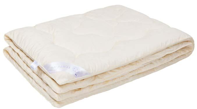 Одеяло Ecotex Кашемир, наполнитель: шерсть, цвет: светло-бежевый, 172 х 205 смОКШ2- долговечность и экологичность; - исключительная мягкость, легкость и шелковистость; - комфорт во время сна: сохраняет тепло, обеспечивая прекрасную циркуляцию воздуха; - снимает напряжение, накопленное за день; - антистатичность.