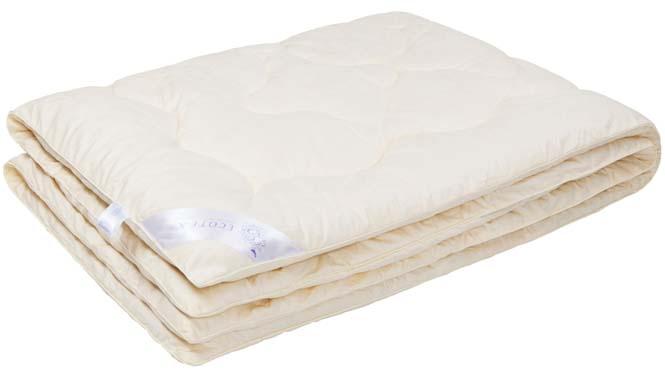 Одеяло Ecotex Кашемир, наполнитель: шерсть, цвет: светло-бежевый, 200 х 220 смОКШЕ- долговечность и экологичность; - исключительная мягкость, легкость и шелковистость; - комфорт во время сна: сохраняет тепло, обеспечивая прекрасную циркуляцию воздуха; - снимает напряжение, накопленное за день; - антистатичность.