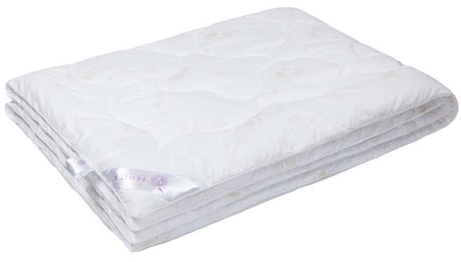 """Одеяло Ecotex """"Лебяжий пух"""", наполнитель: синтепух, цвет: белый, 172 х 205 см"""