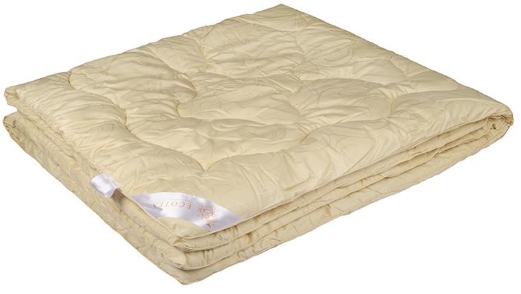 Одеяло Ecotex Меринос, наполнитель: овечья шерсть, цвет: светло-бежевый, 172 х 205 смОМ2- мягкость и упругость; - исключительная теплоизоляция; - экологичность; - антистатичность и гигроскопичность.