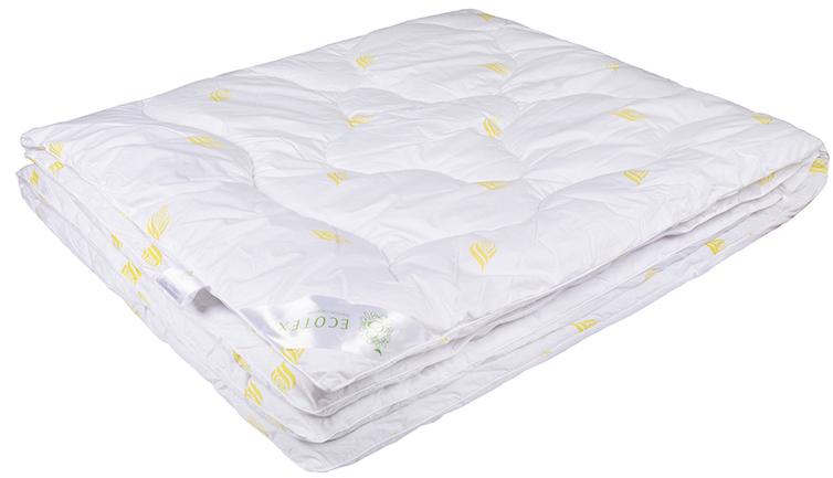 Одеяло Ecotex Маис, наполнитель: синтепух, цвет: белый, 140 х 205 смОМА1- экологичность; - износостойкость; - мягкость, упругость, воздушность; - терморегуляция и гигроскопичность; - легкость в уходе.