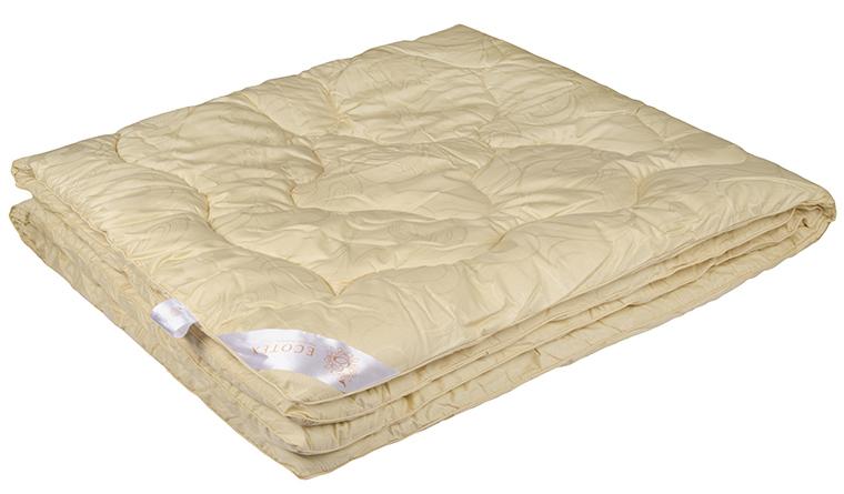 Одеяло Ecotex Меринос, наполнитель: овечья шерсть, цвет: светло-бежевый, 200 х 220 смОМЕ- мягкость и упругость; - исключительная теплоизоляция; - экологичность; - антистатичность и гигроскопичность.