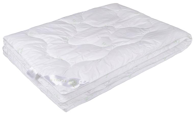 Одеяло Ecotex Бамбук-Премиум, облегченное, наполнитель: бамбуковое волокно, цвет: белый, 140 х 205 смООБ1- экологически чистый природный материал; - не вызывает раздражения; - ощущение свежести: регулирует влажность и теплообмен; - долговечность: сохраняет свои первоначальные свойства и форму после многократной эксплуатации.