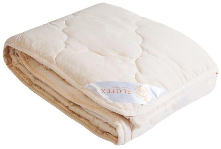 Одеяло Ecotex Золотое руно, облегченное, наполнитель: овечья шерсть, цвет: светло-бежевый, 140 х 205 смООЗР1- комфорт: невероятная мягкость и эластичность; - оптимальный микроклимат во время сна: дарит сухое тепло, впитывая влагу и позволяя коже дышать; - экологичность и антистатичность.