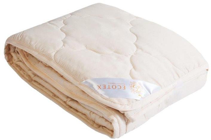 Одеяло Ecotex Золотое руно, облегченное, наполнитель: овечья шерсть, цвет: светло-бежевый, 172 х 205 смООЗР2- комфорт: невероятная мягкость и эластичность; - оптимальный микроклимат во время сна: дарит сухое тепло, впитывая влагу и позволяя коже дышать; - экологичность и антистатичность.