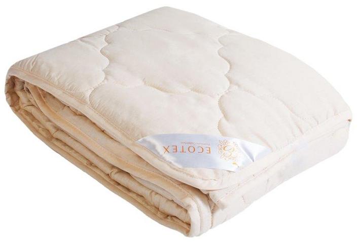 Одеяло Ecotex Золотое руно, облегченное, наполнитель: овечья шерсть, цвет: светло-бежевый, 200 х 220 смООЗРЕ- комфорт: невероятная мягкость и эластичность; - оптимальный микроклимат во время сна: дарит сухое тепло, впитывая влагу и позволяя коже дышать; - экологичность и антистатичность.