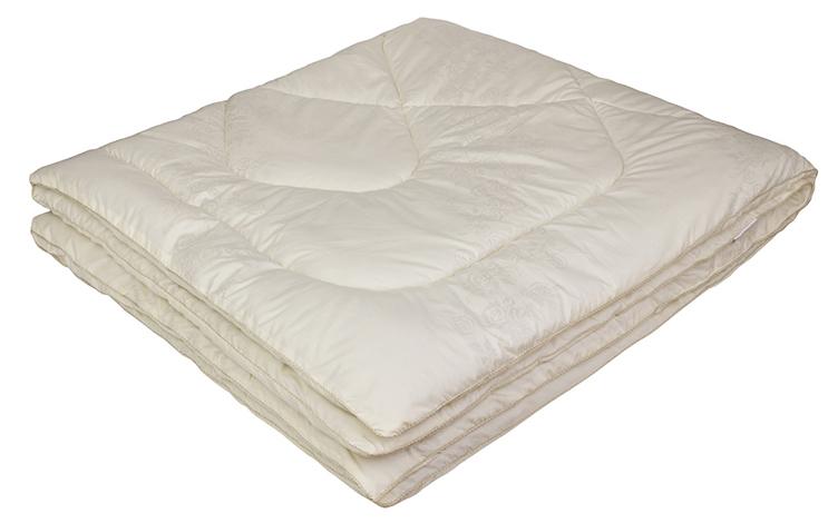 Одеяло Ecotex Овечка-Комфорт, наполнитель: овечья шерсть, цвет: слоновая кость, 200 х 220 смООКЕ- сухое и здоровое тепло: создает комфортный микроклимат во время сна в любое время года; - долговечность и экологичность; - комфорт: антистатичность, мягкость, легкость и объем.