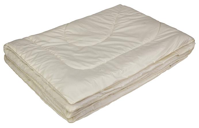 Одеяло Ecotex Овечка-Комфорт, облегченное, наполнитель: овечья шерсть, цвет: слоновая кость, 140 х 205 смОООК1- сухое и здоровое тепло: создает комфортный микроклимат во время сна в любое время года; - долговечность и экологичность; - комфорт: антистатичность, мягкость, легкость и объем.