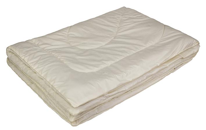 Одеяло Ecotex Овечка-Комфорт, облегченное, наполнитель: овечья шерсть, цвет: слоновая кость, 200 х 220 смОООКЕ- сухое и здоровое тепло: создает комфортный микроклимат во время сна в любое время года; - долговечность и экологичность; - комфорт: антистатичность, мягкость, легкость и объем.