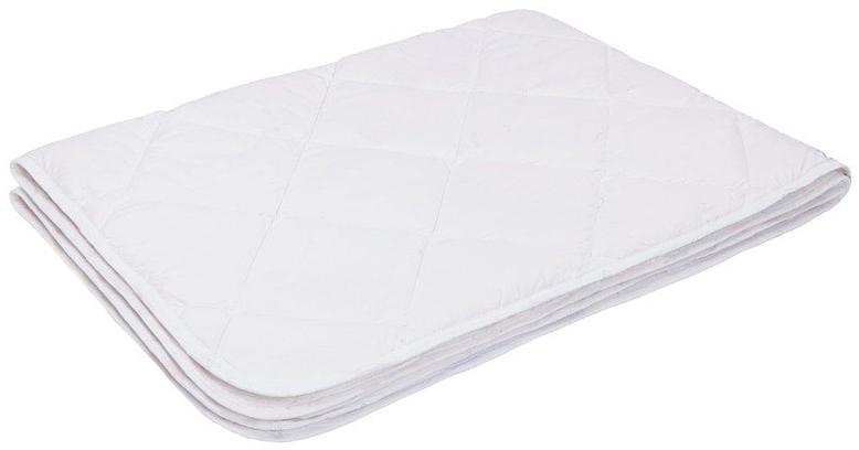 Одеяло Ecotex Файбер-Комфорт, облегченное, цвет: белый, 140 х 205 смООФК1- экологичность; - гигиеничность: не впитывает запахи и пыль; - теплоизоляция и воздухопроницаемость; - долговечность: в течение долгого времени сохраняет объем и упругость; - легкость в уходе: легко стирается, быстро сохнет.