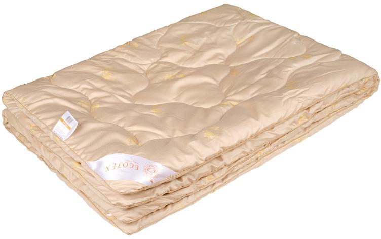 Одеяло Ecotex Сафари, наполнитель: верблюжья шерсть, цвет: светло-бежевый, 200 х 220 смОСЕ- сухое тепло; - благоприятное воздействие на кожу; - высокое содержание ланолина; - антистресс; - экологичность; - антистатичность.