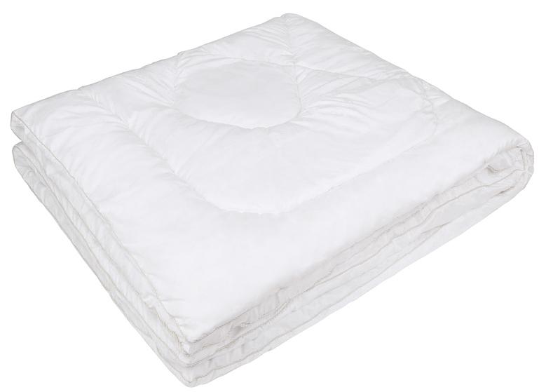 Одеяло Ecotex Файбер-Комфорт, цвет: белый, 172 х 205 смОФК2- экологичность; - гигиеничность: не впитывает запахи и пыль; - теплоизоляция и воздухопроницаемость; - долговечность: в течение долгого времени сохраняет объем и упругость; - легкость в уходе: легко стирается, быстро сохнет.