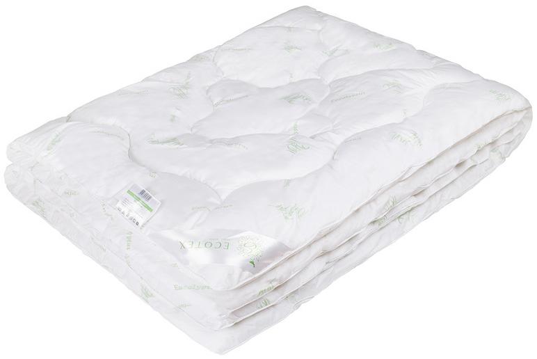 Одеяло Ecotex Эвкалипт, наполнитель: синтепух, цвет: белый, 200 х 220 смОЭКЕ- экологичность; - комфортный сон: обеспечивает прекрасный теплообмен, не поглощает посторонние запахи; - гигиеничность: высокая антибактериальная защита; - благотворное воздействие на кожу; - антистресс-эффект; - сочетание мягкости и объемности.