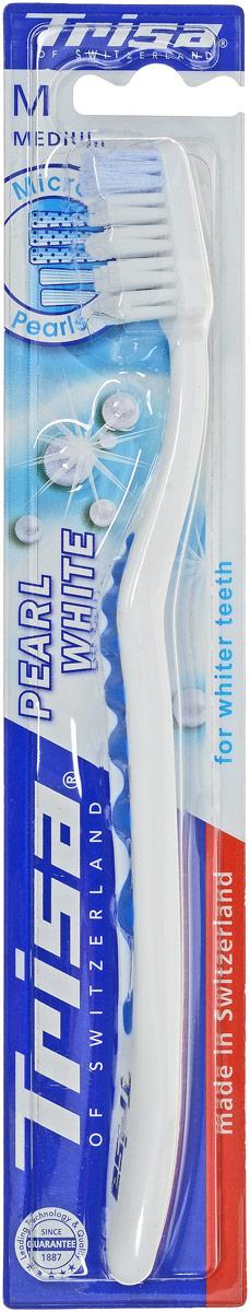 Trisa зубная щетка Перл Вайт, средней жесткости, цвет: голубой627186_голубой