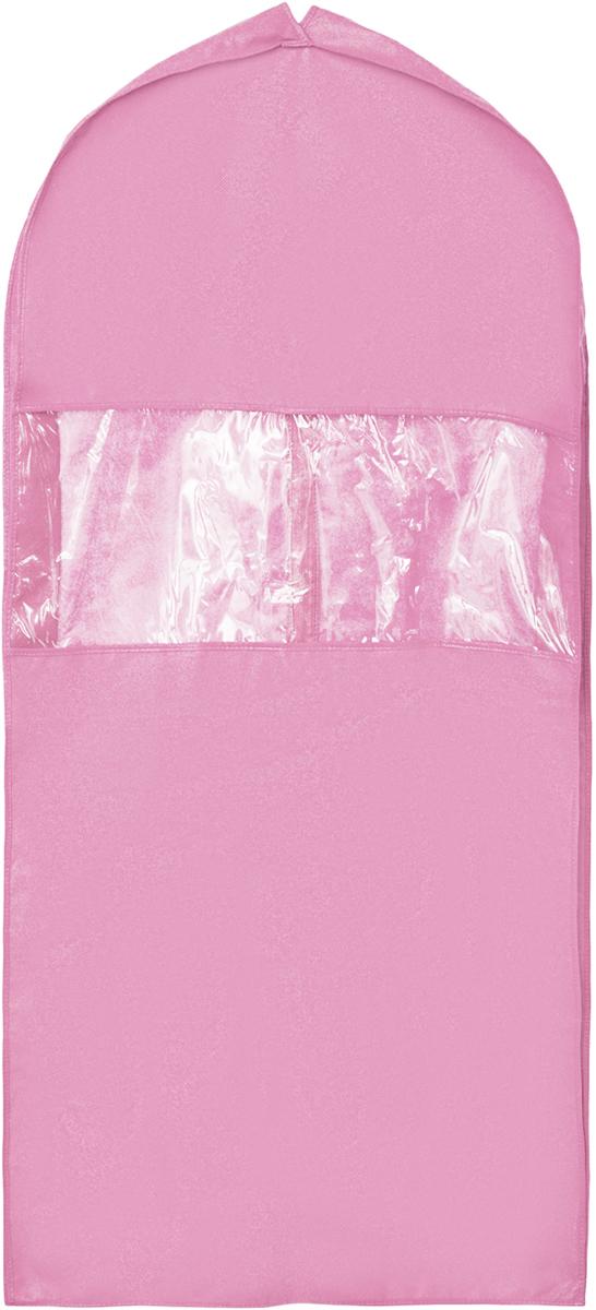 Чехол для костюма Все на местах Minimalistic, цвет: розовый, 130 х 60 х 10 см1014009.Чехол для костюма Все на местах Minimalistic изготовлен из сочетания спанбонда и ПВХ. Прозрачное окошко значительно облегчает поиск необходимой вещи в гардеробе, а элегантный классический дизайн подойдет к любому гардеробу. Этот чехол для костюма позволит аккуратно переносить любимые вещи, не помяв их и не испачкав во время путешествия. В верхней части чехла есть отверстие для вешалки. Застегивается чехол на прочную молнию. Материал: спанбонд, ПВХ. Размеры: 130 х 60 х 10 см.