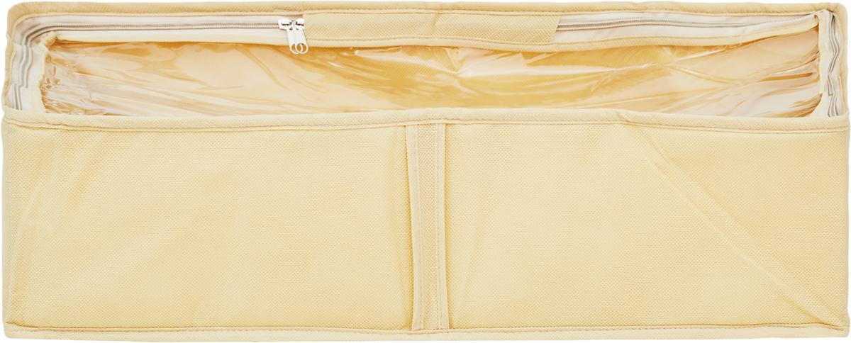 Чехол для одеял Все на местах Minimalistic, цвет: бежевый, 80 х 45 х 15 см1011022.Чехол для одеял Minimalistic выполнен из сочетания ПВХ, спанбонда и изолона. Модель имеет две удобные вертикальные ручки. В стенки чехла вставлен уплотнитель, что позволяет ему держать форму. Материал: спанбонд, ПВХ, изолон. Размер: 80 х 45 х 15 см.
