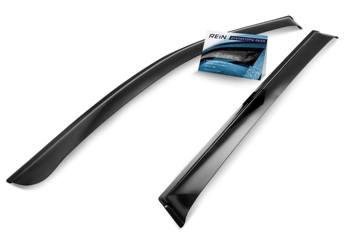 Ветровик REIN, для Ford Transit 2014- микроавтобус, фургон, на накладной скотч 3М, 2 штREINWV903Дефлекторы REIN разрабатываются индивидуально под каждую модель автомобиля. При разработке используются современные технологии 3D-сканирования и моделирования, благодаря чему удается точно повторить геометрию кузова автомобиля. Важным фактором успеха продукта является качество используемых материалов. Для дефлекторов REIN используется традиционный материал – полиметилметакрилат(PMMA), обладающий оптимальными свойствами для производства дефлекторов: высокая прочность и пластичность, устойчивость к температурным колебаниям и внешним химическим воздействиям. Ведется строгий входной контроль поступающего сырья, благодаря чему удается избежать негативного влияния разнотолщинности листов на геометрию изделий. Также, для дефлекторов REIN используется проверенный временем, оригинальный специализированный скотч 3М, благодаря чему достигается высокая адгезия.