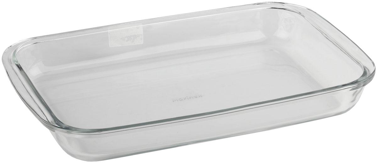 Форма для запекания Marinex, прямоугольная. M165320-1M165320-1Стеклянная форма для запекания жаропрочная Marinex подходит для использования в духовках, микроволновых печах, холодильных и морозильных камерах, посудомоечных машинах.