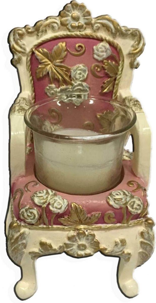 Подсвечник декоративный Magic Home, цвет: розовый, 6,5 х 6 х 10 см44567Подсвечник декоративный Розовый (из полирезины). Оригинальный дизайн и красочное исполнение безусловно порадует обладателя. Подсвечник внесет в интерьер любого дома элемент необычности, создать атмосферу загадочности и изысканности.