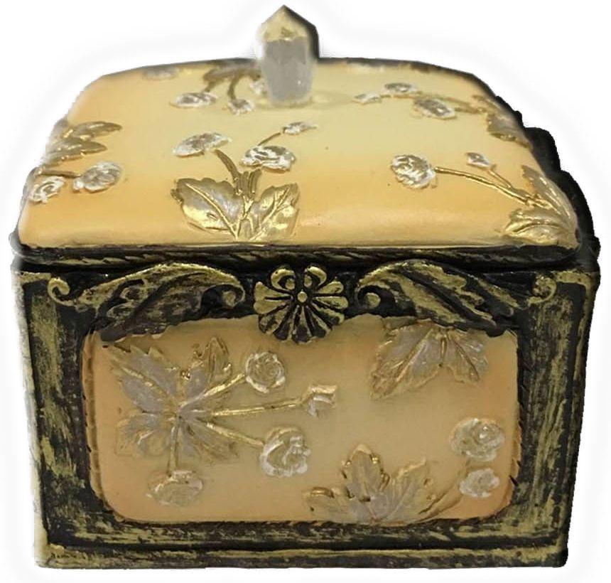 Шкатулка декоративная Magic Home, цвет: желтый , 7,5 х 7 х 6 см44568Шкатулка декоративная Желтая (полирезины). Такая шкатулка не оставит равнодушным ни одного любителя красивых вещей. Шкатулка может использоваться для хранения бижутерии, в качестве украшения интерьера, а также послужит хорошим подарком для человека, ценящего практичные и оригинальные вещи.