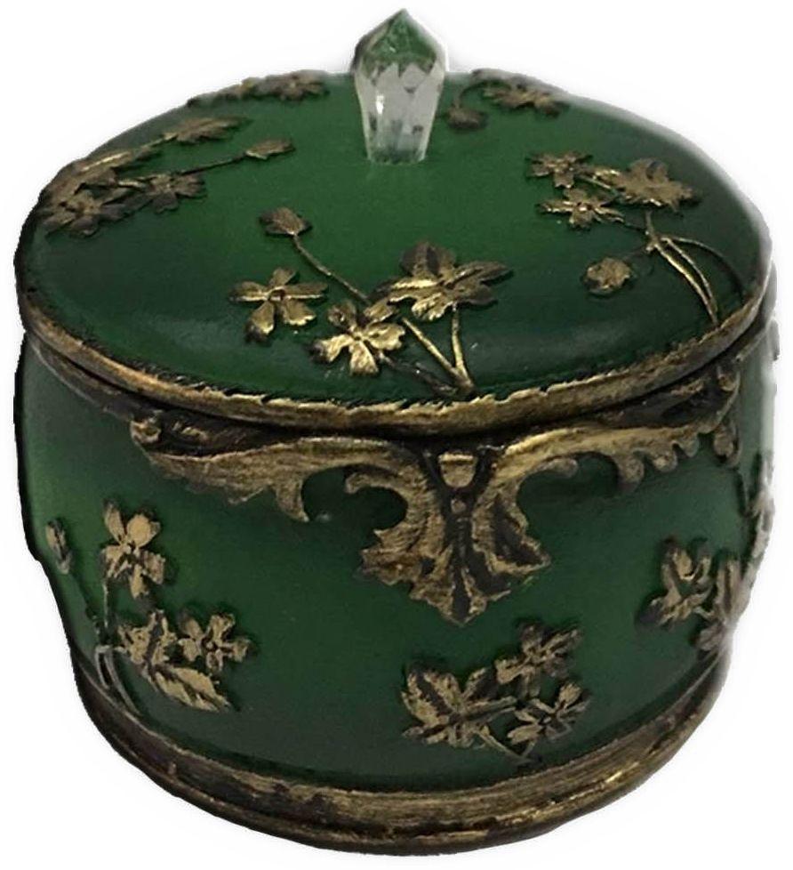 Шкатулка декоративная Magic Home, цвет: зеленый , 7,5 х 7,5 х 6 см44570Шкатулка декоративная Зеленая (полирезины). Такая шкатулка не оставит равнодушным ни одного любителя красивых вещей. Шкатулка может использоваться для хранения бижутерии, в качестве украшения интерьера, а также послужит хорошим подарком для человека, ценящего практичные и оригинальные вещи.