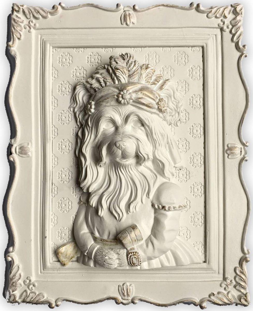 Украшение декоративное Magic Home Болонка, 23 х 19 х 5 см. 4465844658Украшение декоративное Болонка (из полирезины). Такое украшение не только подчеркнет ваш изысканный вкус, но и станет прекрасным подарком для родных и близких.
