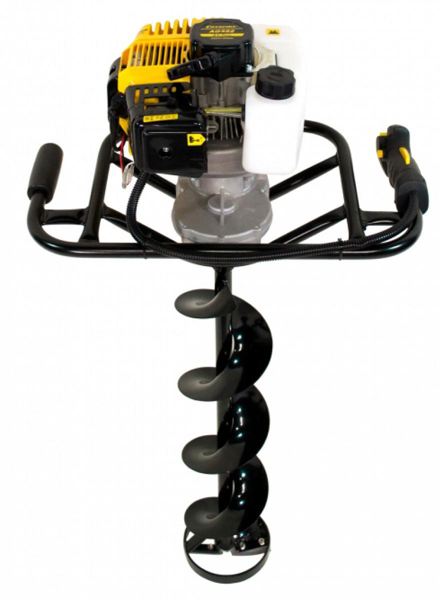 Мотобур Champion AG352AG352Мотобур Champion AG352 подходит для работы с большими шнеками — до 250 мм в диаметре. Модель оснащена двухтактным двигателем 1,9 л.с. и вместительным бензобаком — 0,98 литров. Обратите внимание! Шнек приобретается отдельно. Особенности: Передаточное число 40:1 Диаметры применяемых шнеков 80мм, 100мм, 150мм, 200мм Шнек в комплект не входит!