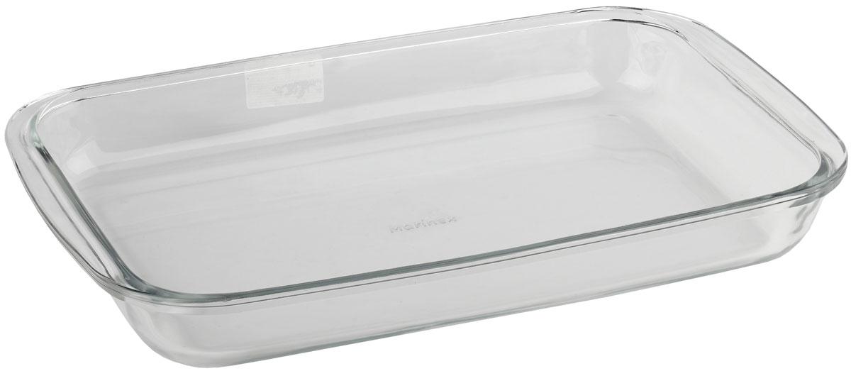 Форма для запекания Marinex, прямоугольная. MC165369MC165369Стеклянная форма для запекания жаропрочная Marinex подходит для использования в духовках, микроволновых печах, холодильных и морозильных камерах, посудомоечных машинах.