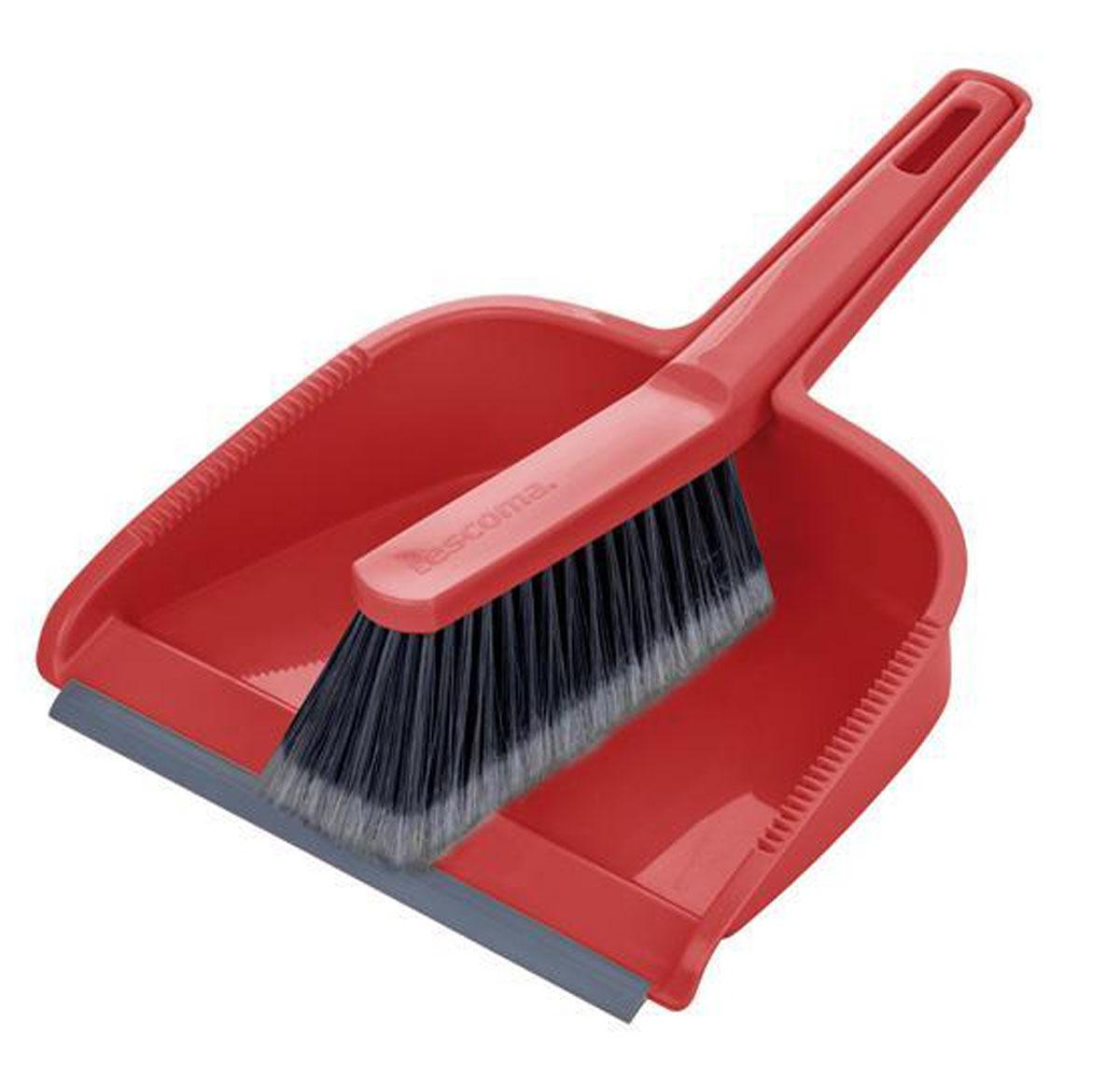 Набор для уборки Tescoma Clean Kit, цвет: красный, 2 предмета900688_красныйНабор для уборки Tescoma Clean Kit состоит из совка и щетки, изготовленных из высококачественного пластика. Вместительный совок удерживает собранный мусор, позволяет эффективно и быстро совершать уборку в любом помещении. Прорезиненный край совка обеспечивает наиболее плотное прилегание к полу. Щетка имеет удобную форму, позволяющую вымести мусор даже из труднодоступных мест. Совок и щетка оснащены ручками с отверстиями для подвешивания. С набором Tescoma Clean Kit уборка станет легче и приятнее. Общая длина щетки: 25 см. Размер рабочей части щетки: 12,5 см х 4,5 см х 5,5 см. Общая длина совка: 29,5 см. Размер рабочей части совка: 21,5 см х 17,5 см х 6 см.