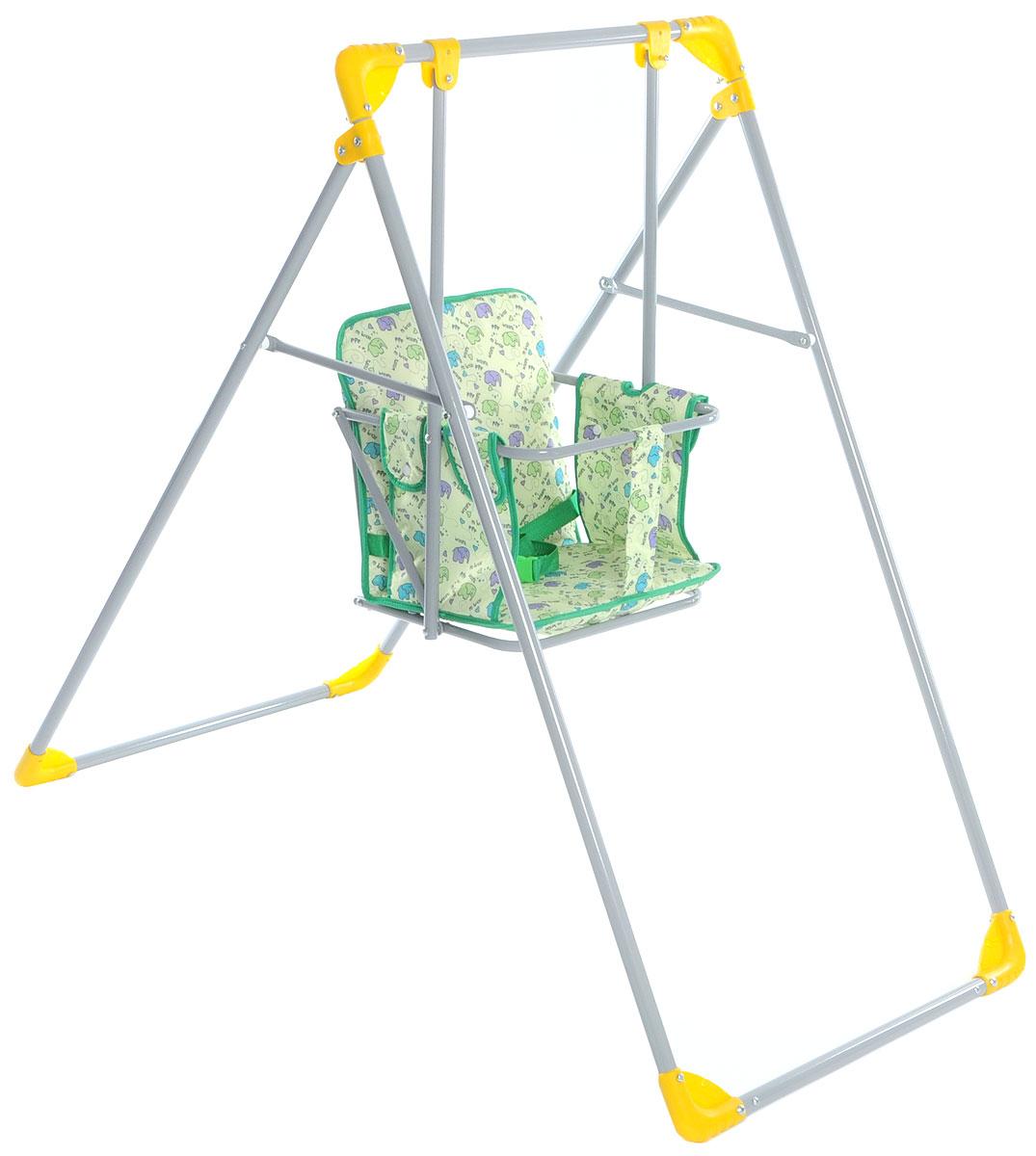 Фея Качели Чарли Слоники цвет зеленый 4238-10_зеленый, слоники