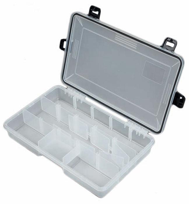 Коробка рыболовная Salmo Waterproof, водонепроницаемая, цвет: белый, 28 х 18 х 5,2 см1501-05Водонепроницаемая коробка средней величины со съёмными перегородками.