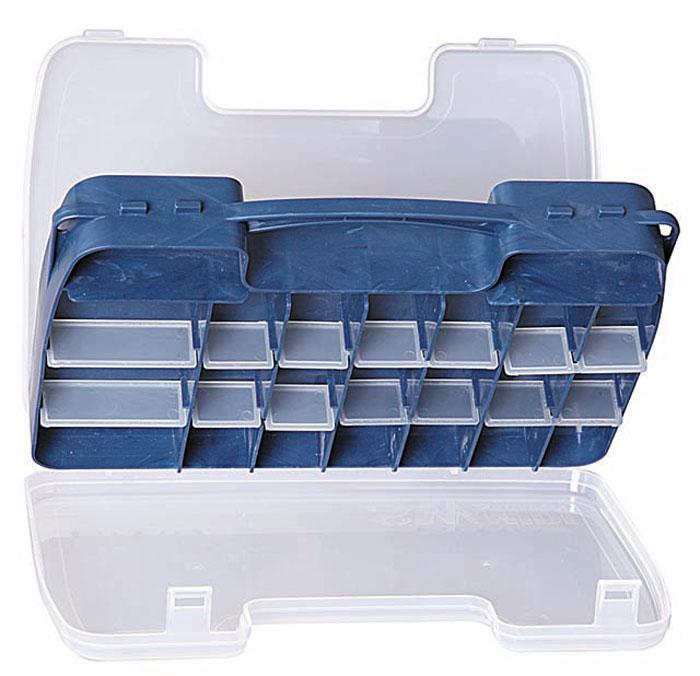 Коробка рыболовная Salmo Double Sided, двухсторонняя, цвет: голубой, 30 x 20 x 6,2 см2546Компактная двухсторонняя коробка для хранения приманок и прочих рыболовных принадлежностей.