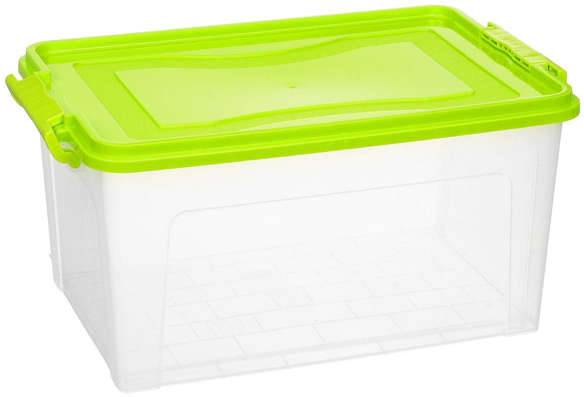 Контейнер для хранения Idea, прямоугольный, цвет: прозрачный, салатовый, 25 лМ 2867Контейнер Idea выполнен из полипропилена, предназначен для хранения игрушек, инструментов, швейных принадлежностей, бумаг и многого другого. Контейнер снабжен эргономичной плотно закрывающейся крышкой со специальными боковыми фиксаторами.