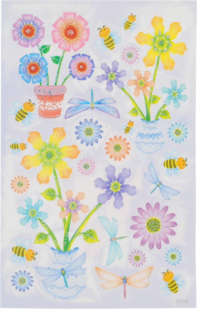 Наклейки для пасхальных яиц Домашняя кухня Цветы и пчелы, 25 штhk29526/27385_цветы, пчелыНабор декоративных наклеек Домашняя кухня Цветы и пчелы, выполненный из ПВХ, предназначен для украшения пасхальных яиц. В набор входит 25 наклеек. Средний размер наклеек: 4 х 2,5 см.