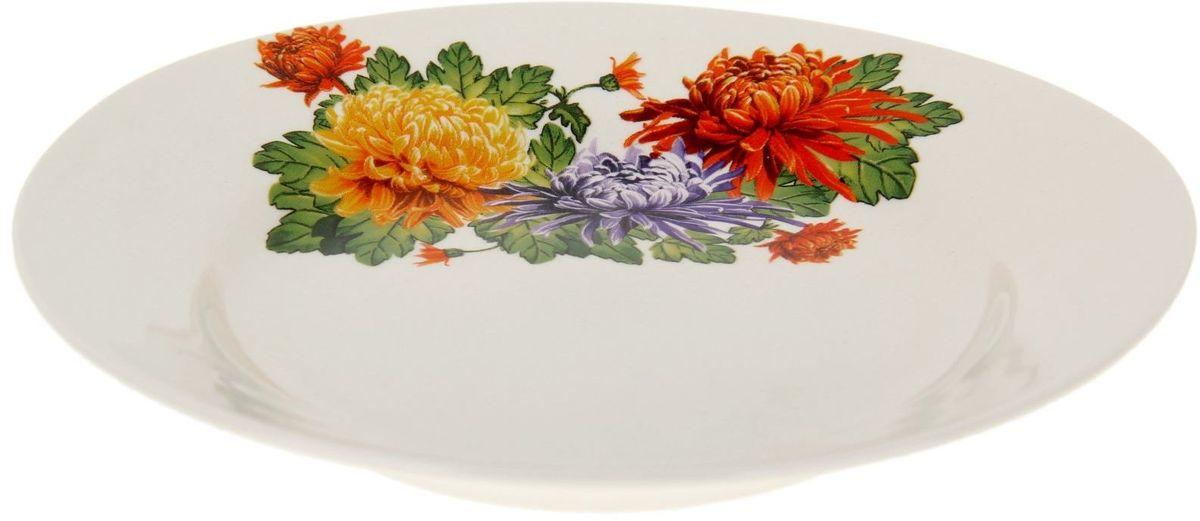 Тарелка Дружковский фарфор Корона. Хризантема, диаметр 17,5 см1185502Необходимый для любой хозяйки предмет, который сочетает в себе отличное качество и дизайн. Наша посуда станет преданным помощником на Вашей кухне.Покупать у нас просто – Вы заказываете понравившуюся продукцию, а мы доставляем Вам её в любое место!