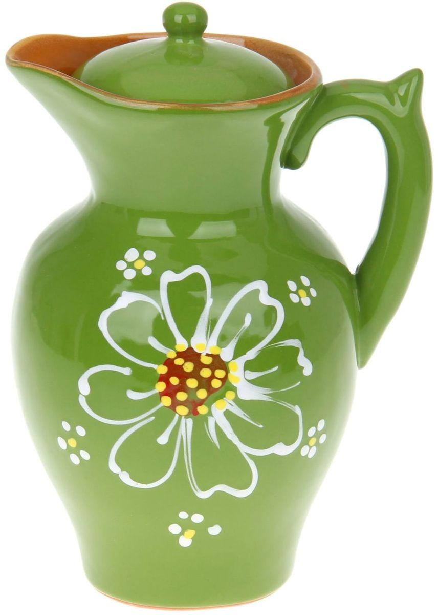 Кувшин Псковский гончар Дачный, цвет: зеленый, 2,1 л1228214