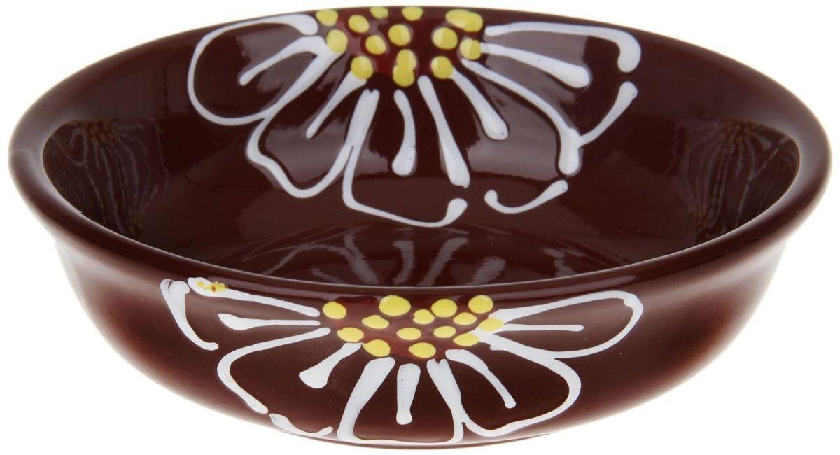 Миска Псковский гончар, цвет: коричневый, 400 мл1228226