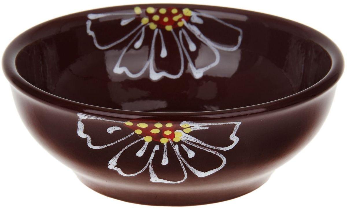 Миска Псковский гончар, цвет: коричневый, 600 мл1228230