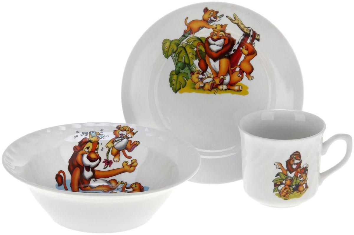 Набор посуды Дружковский фарфор Львята1323824Необходимый для любой хозяйки предмет, который сочетает в себе отличное качество и дизайн. Наша посуда станет преданным помощником на Вашей кухне.Покупать у нас просто – Вы заказываете понравившуюся продукцию, а мы доставляем Вам её в любое место!