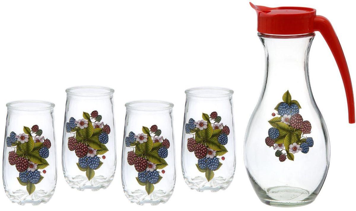 Набор питьевой Хрустальный звонЕжевика, 5 предметов2227251